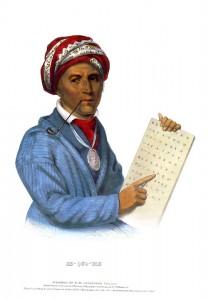 Вождь индейцев чероки Секвойя