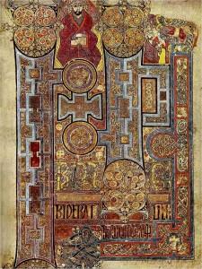 Страница из Келлской книги
